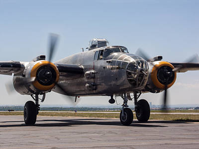 B-25 Restored Art Print by Robert VanDerWal