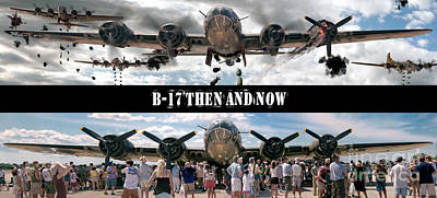 Photograph - B-17 Then And Now by Tom Brickhouse