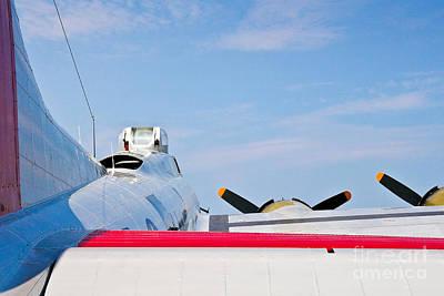 Photograph - B-17 Upward by John Waclo