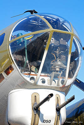 Photograph - B-17g Flying Fortress Nose Detail by Connie Fox