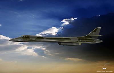B-1b Lancer Art Print by Arthur Eggers