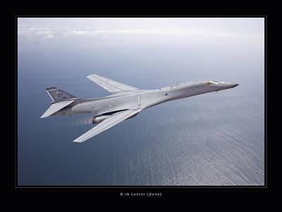 B-1b Lancer Art Print by Larry McManus