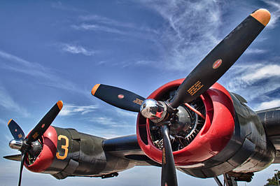 Airplane Engine Photograph - B-24 Engine by Mike Burgquist