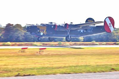 Photograph - B-24 Landing by Gordon Elwell