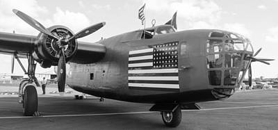 Photograph - B-24 Liberator by Alan Marlowe