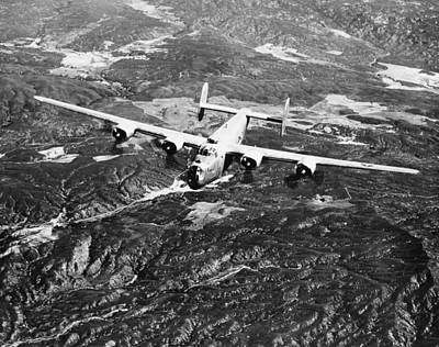 Photograph - B-24 Liberator Bomber by Granger