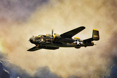 B-25 Georgie's Gal Art Print by Peter Chilelli