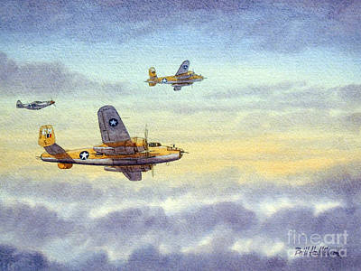 Painting - B-25 Mitchell by Bill Holkham