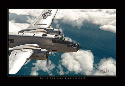Photograph - B-25 On Patrol by Larry McManus