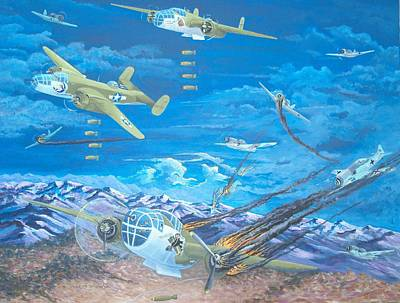 B-25's At Work Art Print