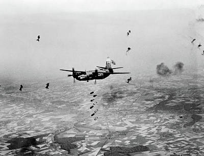 World War Ii Airplane Photograph - B-26 Martin Marauder Aircraft Dropping by Vintage Images