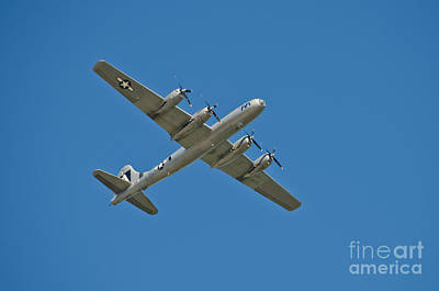 B29 Photograph - B-29 Bomber Overhead by Anthony Mercieca