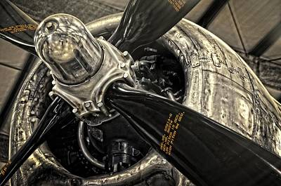 Photograph - B-29 Engine by Ken Smith