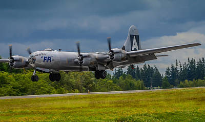 B-29 Superfortress Flair  Art Print by Puget  Exposure