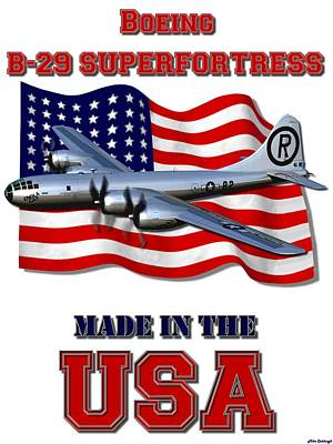 B29 Digital Art - B-29 Superfortress Made In The Usa by Mil Merchant