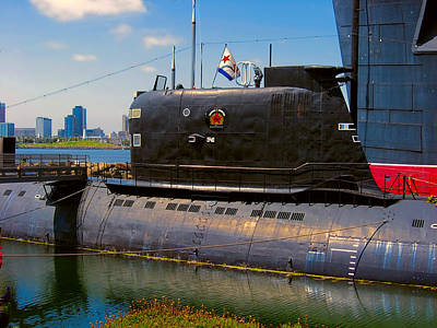 Digital Art - B-427 Scorpion Submarine Long Beach Ca by Wendy J St Christopher