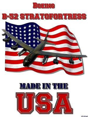 Made In The Usa Digital Art - B-52 Stratofortress Made In The Usa by Mil Merchant