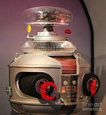 Art Print featuring the photograph B-9 Robot From Lost In Space by Cynthia Snyder