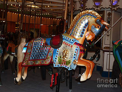 Photograph - B And B Carousel In Coney Island by Kendall Eutemey