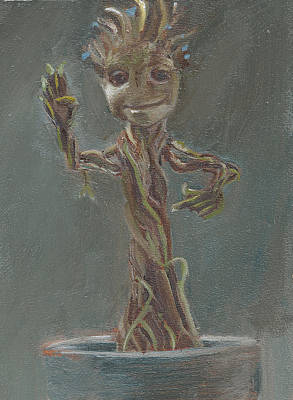 Painting - B And G Is For Baby Groot by Jessmyne Stephenson
