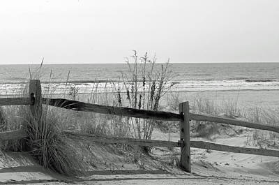 Photograph - B And W Beach by Greg Graham