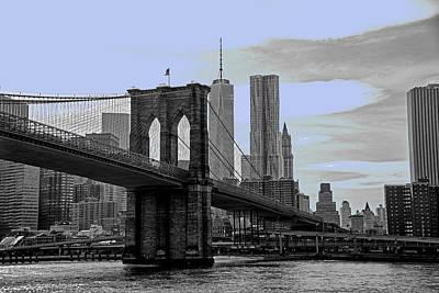B And W Brooklyn Bridge Original by Allan Einhorn