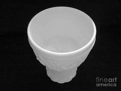 State Love Nancy Ingersoll - B and W empty milkglass bowl by Tina M Wenger