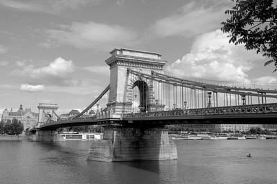 Photograph - B And W Scenic Chain Bridge by Caroline Stella