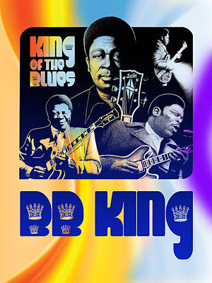 Stylized Beverage Mixed Media - B. B. King Poster Art by Robert Korhonen