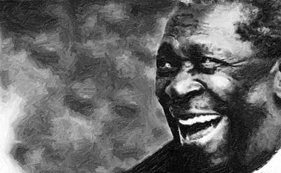 B.b.king Painting - B B King by Tilly Williams
