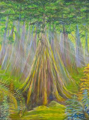 Painting - B C Cedars by Cathy Long