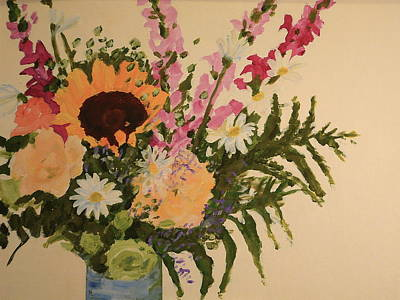 B-day Bouquet Art Print by Valerie Lynch