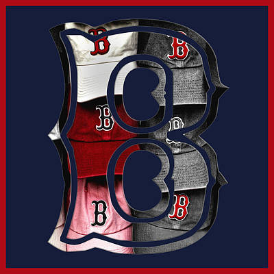 Bosox Photograph - B For Bosox - Boston Red Sox by Joann Vitali