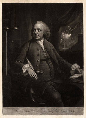Franklin Drawing - B. Franklin Of Philadelphia L.l.d. F.r.s.  M. Chamberlin by Litz Collection