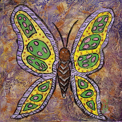 B Is For Butterfly Original by Darice Machel McGuire