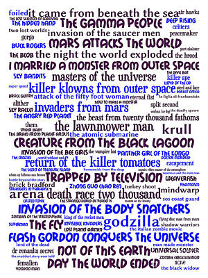 B Movies Science Fiction 20130627whi Art Print