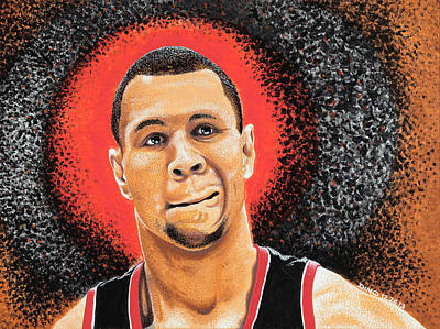 Shooting Guard Painting - B Roy by Dino Murphy