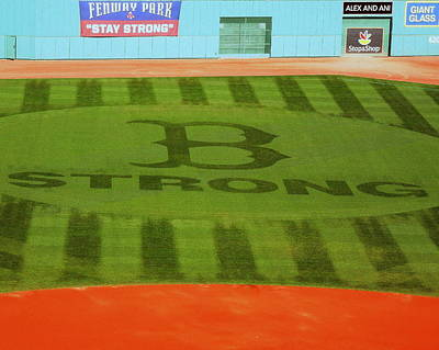 Photograph - B Strong Fenway Tribute by Caroline Stella