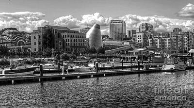 Photograph - B W Museum Waterway View  by Chris Anderson