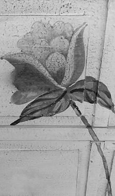 B W Wood Flower Art Print by Rob Hans