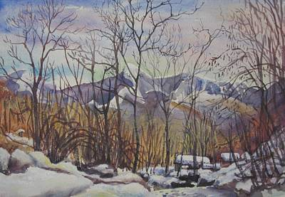 Painting - B02. Monte Tomara Ch by Les Melton