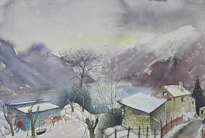 Painting - B03. Above Lac Maggiore Ch by Les Melton