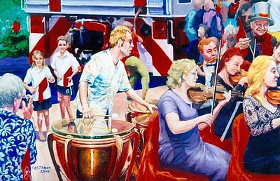 Painting - B05. The Drummer by Les Melton