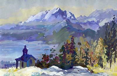 Painting - B06. Monte De Lago Ch by Les Melton