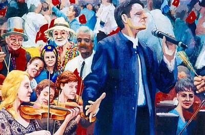 Painting - B06. The Singer by Les Melton