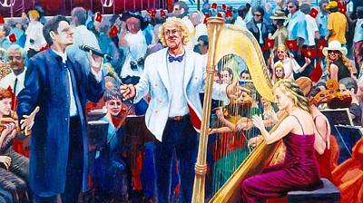 Painting - B07. The Singer And Conductor by Les Melton