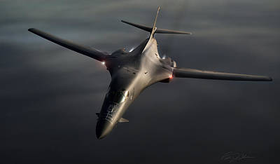 High-speed Digital Art - B1-b Lancer by Peter Chilelli