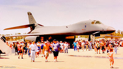 Photograph - B1 Lancer El Toro Marine Base California by Bob and Nadine Johnston