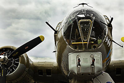 Photograph - B17 Bomber Form Ww II by M K Miller