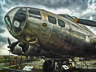 Painting - B17 Bomber by Gregory Dyer